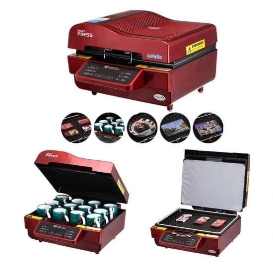 3D Sublimation Heat Press Printer Vacuum Heat Press Machine
